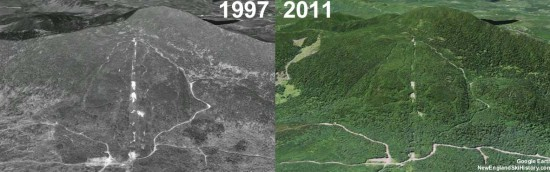 Enchanted Mountain Aerial Imagery, 1997 vs. 2011