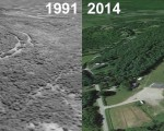 Hermon Mountain Aerial, 1991 vs. 2014