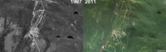 Saddleback Mountain Aerial Imagery, 1997 vs. 2011