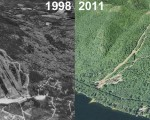 Shawnee Peak Aerial Imagery, 1998 vs. 2011