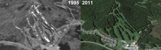 Bousquet Aerial Imagery, 1995 vs. 2011