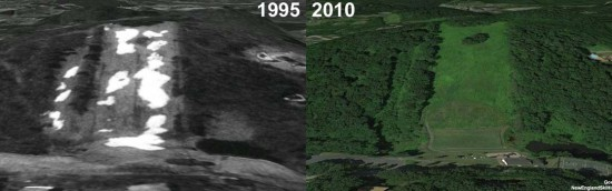 Jericho Hill Aerial Imagery, 1995 vs. 2010