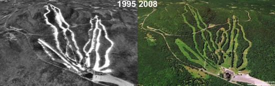 Wachusett Aerial Imagery, 1995 vs. 2008