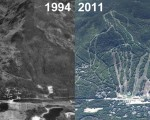 Attitash Aerial Imagery, 1994 vs. 2011