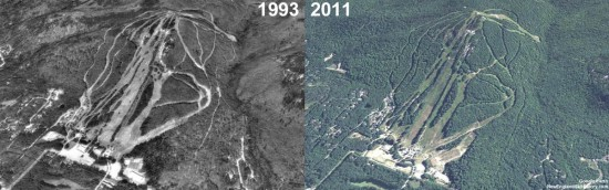 Cranmore Aerial Imagery, 1993 vs. 2011