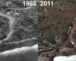 Snow Hill at Eastman Aerial Imagery, 1998 vs. 2011