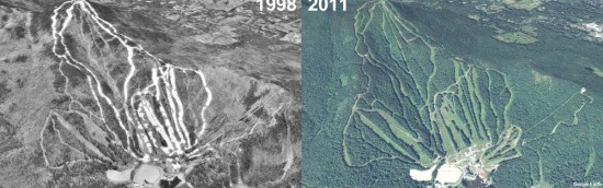 Gunstock Aerial Imagery, 1998 vs. 2011