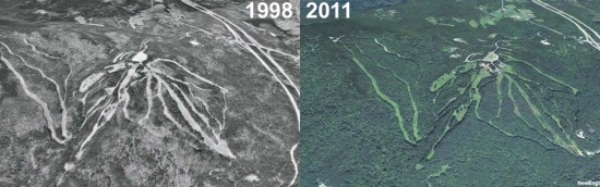 King Ridge Aerial Imagery, 1998 vs. 2011