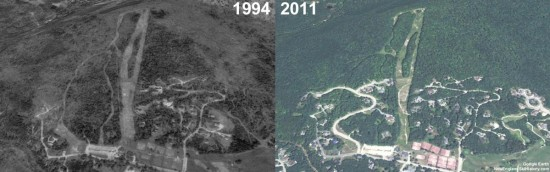 Snow's Mountain Aerial Imagery, 1994 vs. 2011