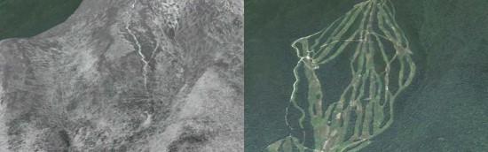 Waterville Valley Aerial Imagery, 1964 vs. 2011