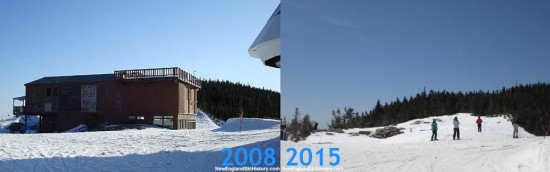 Wildcat ski area summit, 2008 vs. 2015