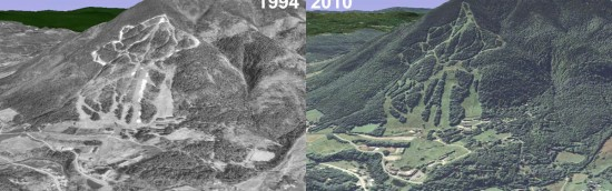 Ascutney Aerial Imagery, 1994 vs. 2010