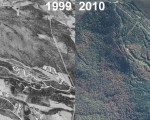 Burke Mountain Aerial Imagery, 1999 vs. 2010