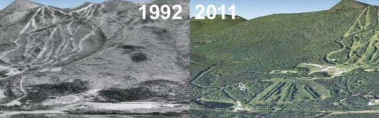Haystack Aerial Imagery, 1992 vs. 2011