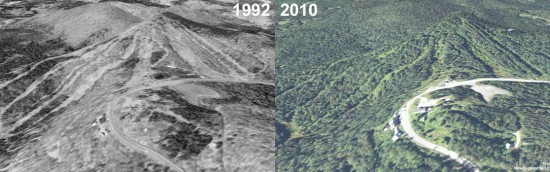 Hogback Aerial Imagery, 1992 vs. 2010