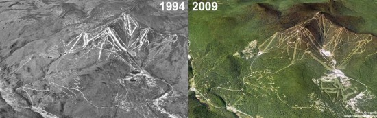 Killington Aerial Imagery, 1994 vs. 2009