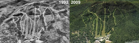 Magic Mountain Aerial Imagery, 1992 vs. 2009