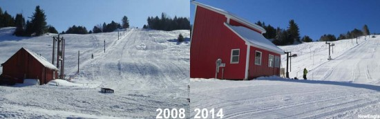 Northeast Slopes, 2008 vs. 2014