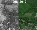 Norwich University Ski Area Aerial Imagery, 1996 vs. 2012
