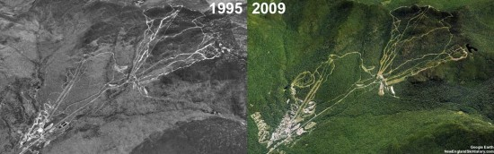 Smugglers' Notch Aerial Imagery, 1995 vs. 2009