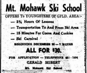 December 21, 1963 Greenfield Recorder Gerald Seibert Ski School